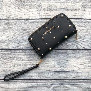 78a41c214c14 Michael Kors Black Studded Wallet on Poshmark